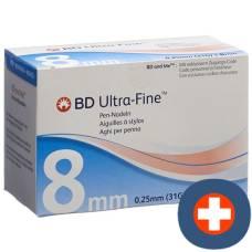 Bd ultra-fine pen needle 31g 105 pcs 0.25x8mm