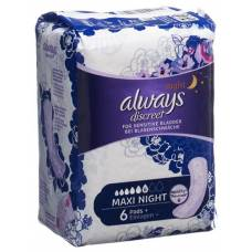 Always discreet incontinence maxi night 6 pcs