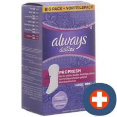 Always panty liner profresh large value pack 40 pcs