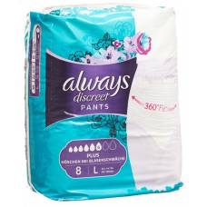 Always discreet incontinence pants l plus 8 pcs