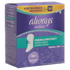 Always panty liner fresh & protect normal value pack 56 pcs