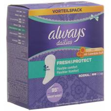 Always panty liner fresh & protect normal calendula value pack 56 pcs