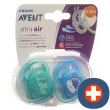 Avent philips ultra pacifier air 6-18 months deco boy 2 pcs