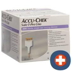 Accu-chek safe-t pro uno disposable lancing device 200 pcs