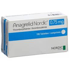 Anagrelide nordic tablets 0.75 mg 100 pcs