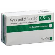 Anagrelide nordic tablets 0.5 mg 100 pcs