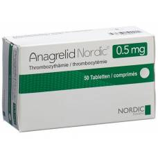 Anagrelide nordic tablets 0.5 mg 50 pcs