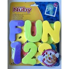 Nuby alphabet and numbers for bath 36 pcs