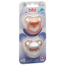 Bibi nuggi happiness dental silicone 6-16 m with ring trends duo main assorted sv-c