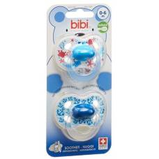 Bibi nuggi happiness natural silicon 0-6 m with ring trends duo main assorted sv-c