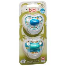 Bibi nuggi happiness dental silicone 16+ with ring trends duo main assorted sv-c