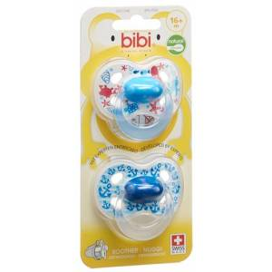 Bibi Nuggi Happiness Natural silicone 16+ M with ring Trends DUO Main assorted SV-C