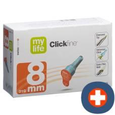 Mylife clickfine pen needles 8mm 31g 100 pcs