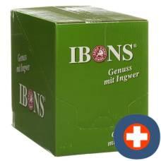 Ibons ginger candy display lemon without sugar 10x75g