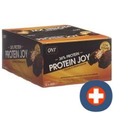 Qnt 36% protein bar joy low sugar cookie & cream 12 x 60 g