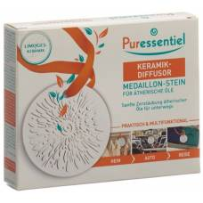 Puressentiel ceramic diffuser for essential oils medallion stone