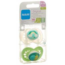 Mam original soother silicone 16-36 months unisex 2 pcs