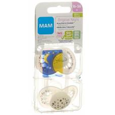 Mam night soother silicone 16-36 months unisex 2 pcs