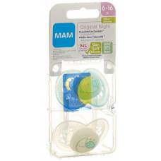 Mam night soother silicone 6-16 months unisex 2 pcs