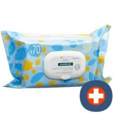 Klorane bébé degradable cleaning wipes 70 pcs