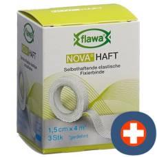 Flawa nova prison cohesive gauze bandage 1.5cmx4m 3 pcs