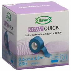 Flawa nova quick cohesive rice binding 2.5cmx4.5m blue 2 pcs
