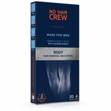 No hair crew cold wax strips for body hair removal wax for men with 4 wipes 20 pcs