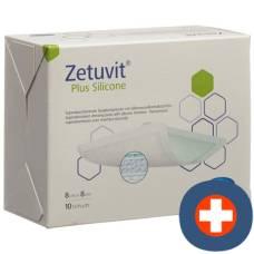 Zetuvit plus silicone 8x8cm 10 pcs
