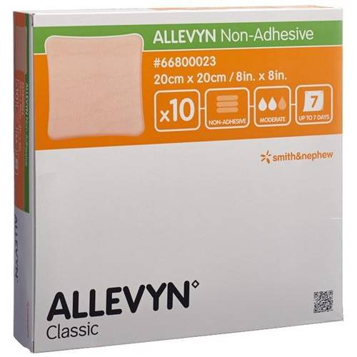 Allevyn Non-Adhesive wound dressing 20x20cm 10 pcs