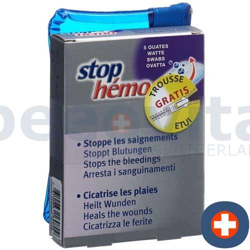 Stop Hemo cotton + Case bestowed Battalion 5 pcs