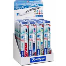 Trisa feelgood toothbrush swiss edition display 24 pieces
