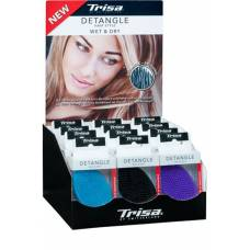 Trisa detangle hairbrush small without handle display 12 pieces