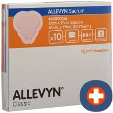 Allevyn adhesive sacrum dressing 17x17cm 10 pcs