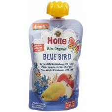 Holle bluebird - pouchy pear apple & blueberry oat 100 g