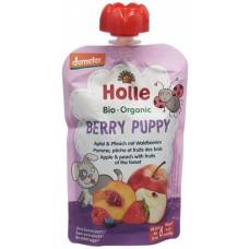 Holle berry puppy - pouchy apple & peach with forest berries 100g