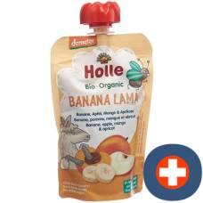 Holle banan lama - pouchy banana apple mango & apricot 100 g