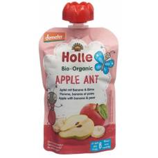 Holle apple ant - pouchy apple & banana with pear 100g