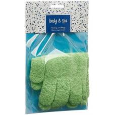 Herba exfoliating gloves light green pair 1