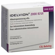 Idelvion trockensub 2000 iu with solvent and administration set durchstf