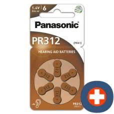 Panasonic hearing aid batteries 312 6 pcs