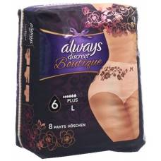 Always discreet boutique incontinence pants l plus 8 pcs