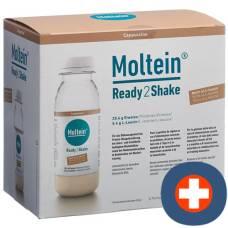 Moltein ready2shake cappuccino 6 fl 24 g