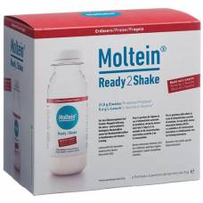 Moltein ready2shake strawberry 6 fl 24 g