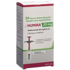 Humira inj lös 20 mg / 0.2ml 2 fertspr 0.2 ml