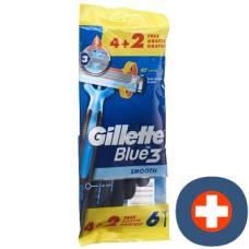 Gillette blue 3 smooth disposable razors 6 pcs