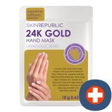 Skin republic 24k gold foil hand mask 18 g