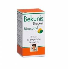 Bekunis dragees 5 mg bisacodyl ds 30 pcs