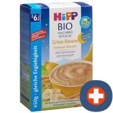 Hipp goodnight organic milk porridge semolina banana with no added sugar 450g