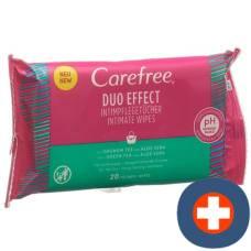 Carefree intimate wipes green tea & aloe 20 pcs
