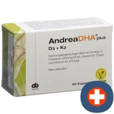 Andreadha plus omega-3 vitamin d3 + vitamin k2 cape vegan 60 pcs